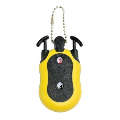 Yellow Golf Tool Score Stroke Tally Number Shot Counter Keeper W/ Keychain