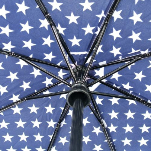 USA Stars Stripes American Flag Fashion UV Protection Auto Tri-folded Umbrella