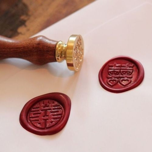 UNIQOOO Traditional King Size Sealing Wax, Red, 24Pcs