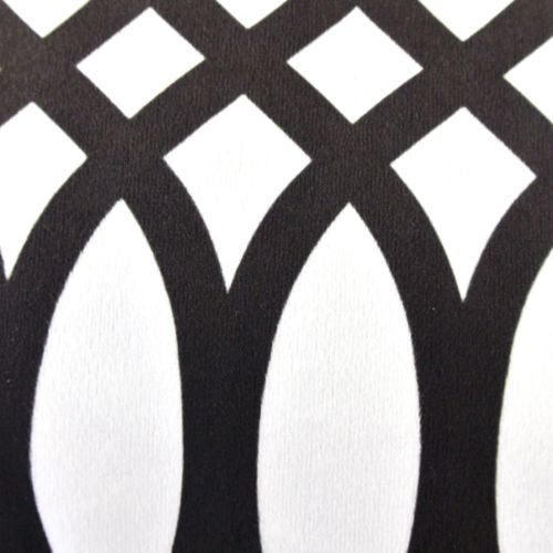 Modern Black White Spiral Geometric Graphic Decorative Pillow Case Cushion Cover