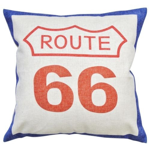 Vintage US Historic Highway Route 66 Road Decorative Pillowcase Cushion Cover