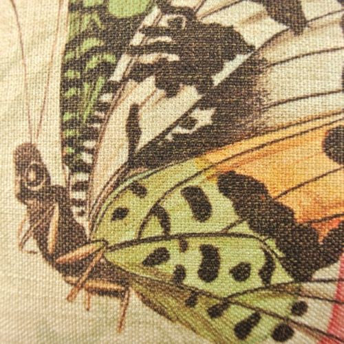Yellow Wild Butterfly Romantic Lateral Decorative Pillow Case Cushion Cover