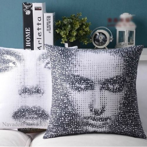 Modern Art Digital Print 2Sides Femme Fatale Decorative Pillowcase Cushion Cover