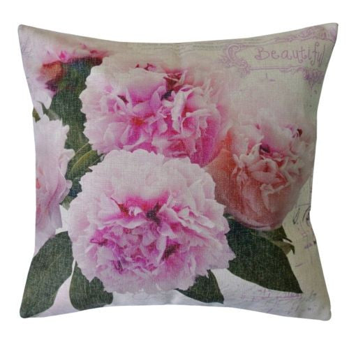 Vintage French Pink Hydrangeas Flora Flower Decorative Pillowcase Cushion Cover
