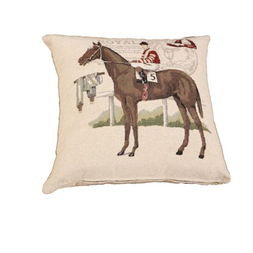 Red Esquire Horse Riding Chevalier Decorative Pillow Case Cushion Cover Sham