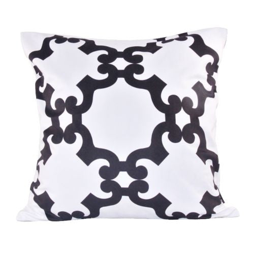 Modern Black White Cloud Decorative Pillow Case Cushion Cover Throw Sham