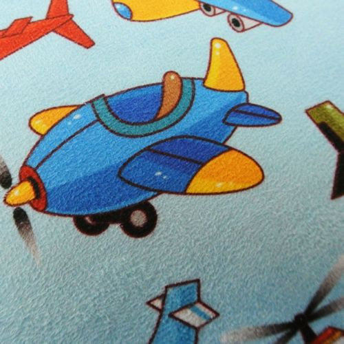 Blue Cartoon Aircraft Air Balloon Plane Kid  Decorative Pillowcase Cushion Cover