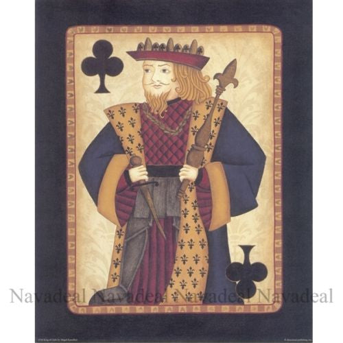 4pcs Painting Cards Poker Face Hearts Diamond Art Decorative Canvas Wall Posters