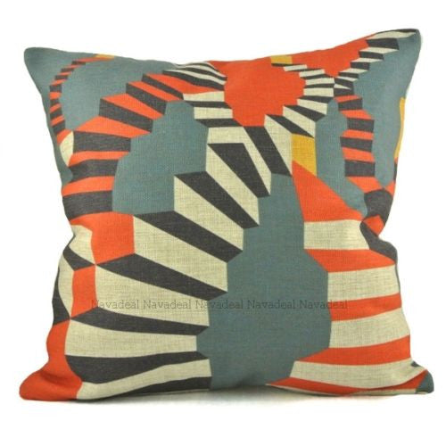 Modern Fantasy Color Stairs Abstract Pop Art Decorative Pillowcase Cushion Cover