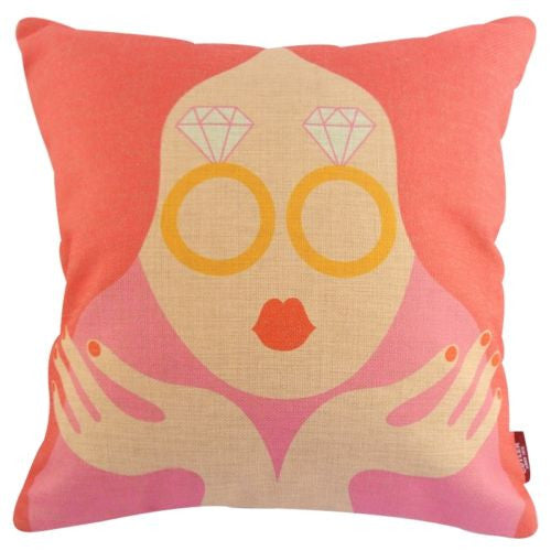 Modern Pop Art Pink Material Girl Diamonds Decorative Pillowcase Cushion Cover