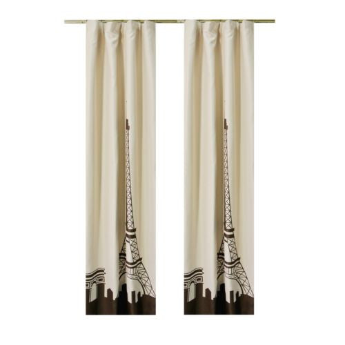 "2pcs 51""x104"" Morden Paris Eiffel Tower Home Decorative Curtain Window Drapes"