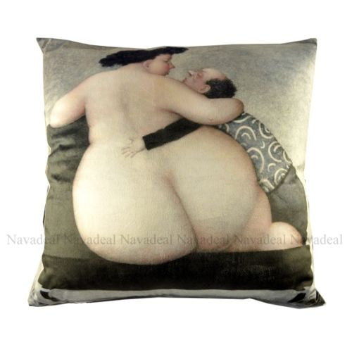 Flannel France Woman Hips Modern Art Decorative Pillowcase Cushion Cover