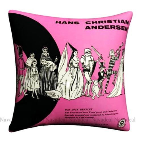 Satin Pink Antusen Fairy Tale Character Decorative Pillowcase Cushion Cover