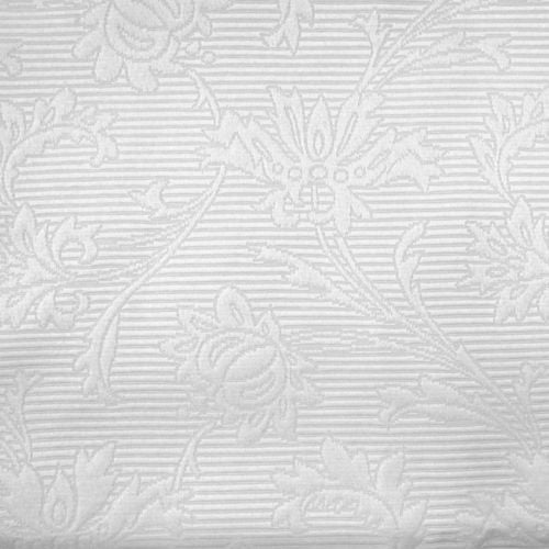 "57""x83"" Classy White Jacquard Floral Grommet Top Curtain Valance Window Panel"