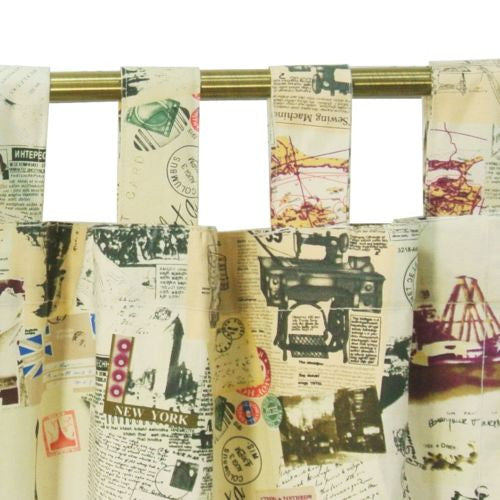 "1pc 59"" x 82"" Vintage Paris Eiffel Tower Home Cafe Curtain Window Drape"