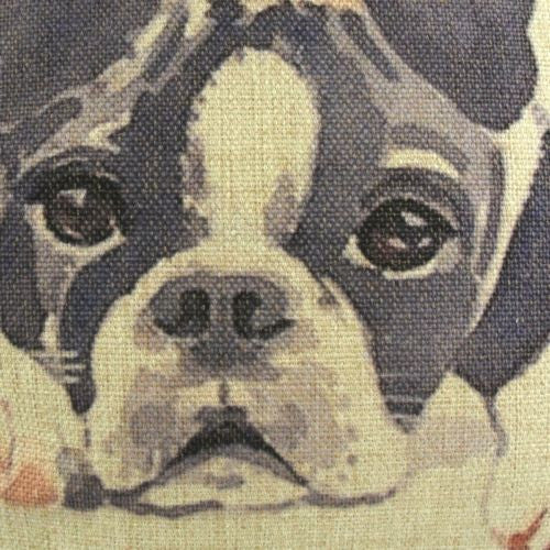 Watercolor Boston Terrier Dog Puppy Decorative Pillowcase Cushion Cover Sham
