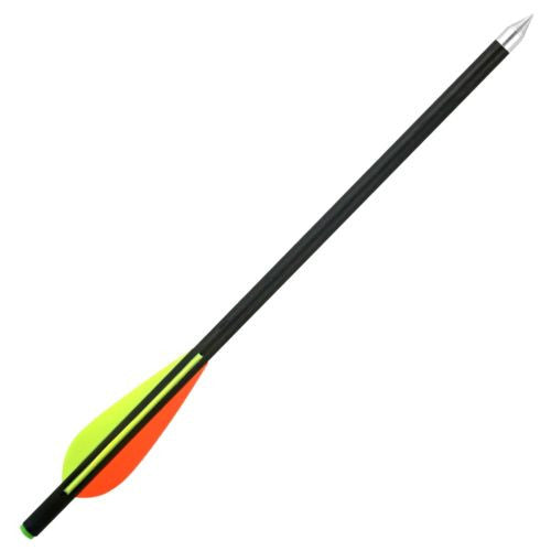 "SPEED TRACK Set of 6pcs 13.5"" Glass Fiber Shaft Hunting Arrows for Recurved Bow"