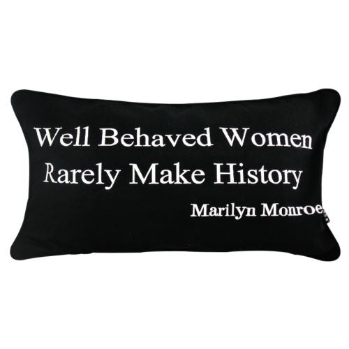 Modern Marilyn Monroe Quote Decorative Lumbar Cotton Pillow Case Cushion Cover
