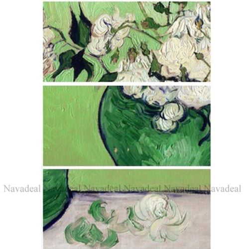 Vase With Rose Van Gogh Oil Paintng Picture Decorative Cotton Canvas Wall Poster