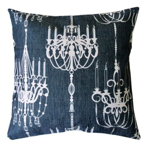 Vintage Gothic French White Chandelier Decorative Pillowcase Cushion Cover