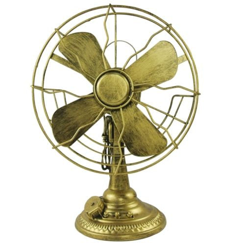 Vintage Decorative Gold Fan Props Metal Model Photographing Display Art Deco