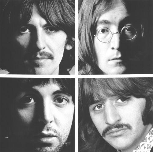 Black White The Beatles Rock Band Face Photo Art Decorative Canvas Wall Poster