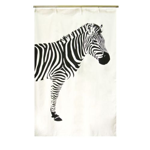 "1pc 56""x86"" Modern Zebra Home Cafe Decor Cotton/Linen Curtain Window Drapes"