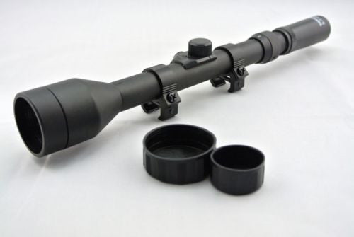 Pro Telescope 3-7X28 Rifle Hunting Scope With Free Mounts & Lens Caps