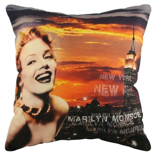 Hot Marilyn Monroe New York Twilights Sunset Decorative Pillowcase Cushion Cover