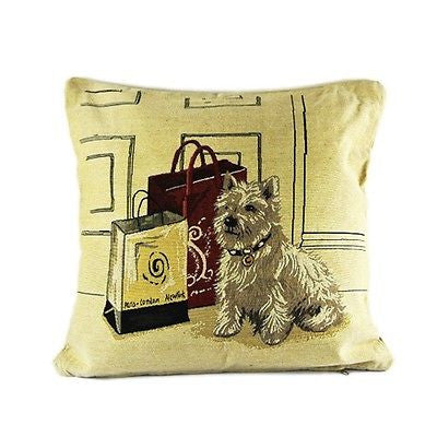 French Art 3D Puppy Shih Tzu Dog Decorative Pillow Case Cushion Cover Shams