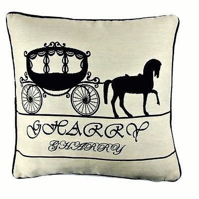 Cream Pumpkin Carriage Fairy Tale Cinderella Art Pillow Case Cushion Cover