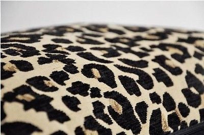 Modern Wild Leopard Print Chenille Jacquard Pillowcase Cushion Cover Sham