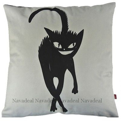 Magic Dark Black Cat Kitty Animal Art Decorative Throw Pillowcase Cushion Cover