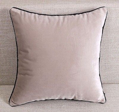 IVORY PILLOW CASE VELVET PURE COLOR MODERN ART CUSHION COVER THROW CASE SHAM