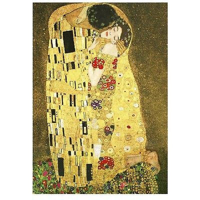 Art Recreation Vintage Masterpiece Gustav Klimt Kiss Painting Canvas Poster