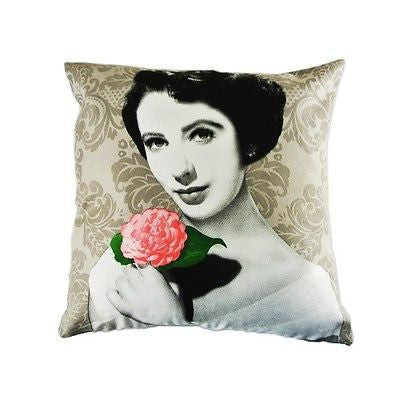 Elizabeth Taylor Icon Pink Flower Decorative Art Pillow Case Cushion Cover