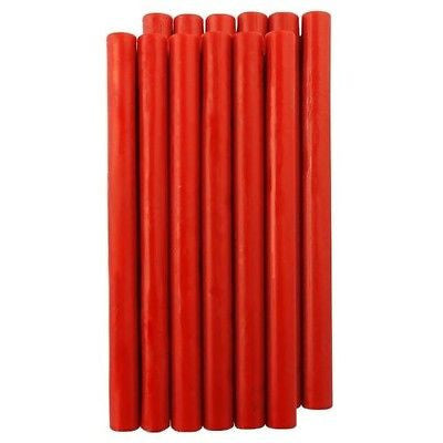 UNIQOOO Traditional King Size Sealing Wax, Red, 12Pcs