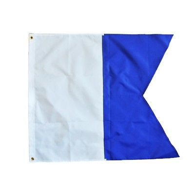 Large 720mmX600mm Scuba Dive Diving Boat Alpha Flag International Sign