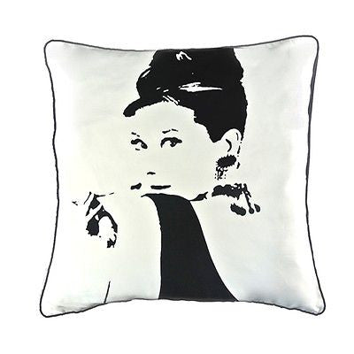 Audrey Hepburn Pop Art Modern Decorative Pillow Case Cushion Cover Shams