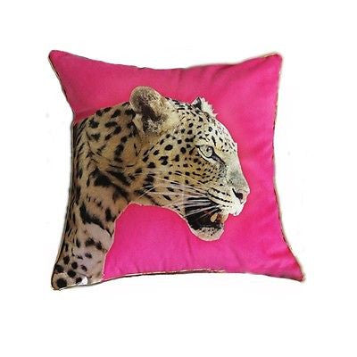 Modern Pink Desinger RETRO Leopard POPArt Decorative Pillow Case Cushion Cover