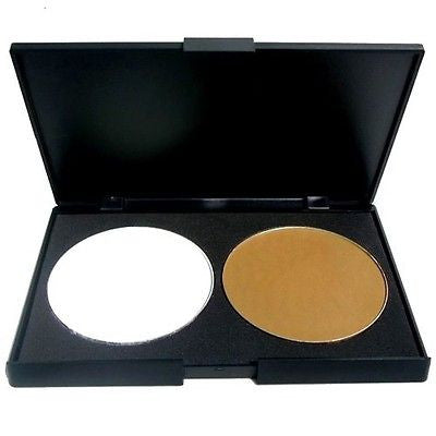 Pro Highlight & Contour Bronzer Face Compact Powder Palette Make Up Cosmetics