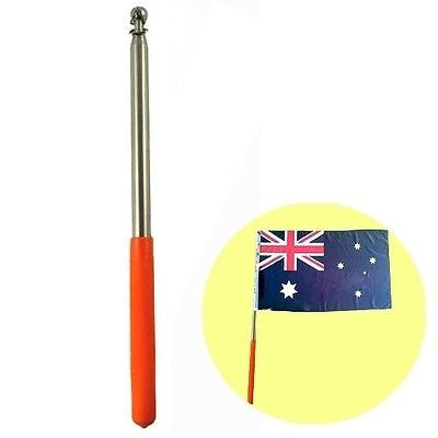 "63""  Stainless Steel Telescoping Flagpole Collapsable Pole Banner Tour Guider"