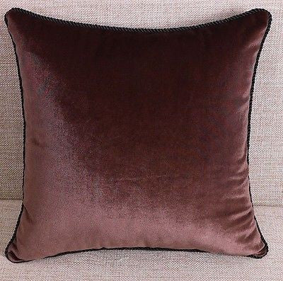COFFEE Pillow CASE VELVET PURE COLOR MODERN ART CUSHION COVER THROW CASE SHAM
