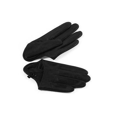 Sexy Black Half-Palm Leather Five Fingers Gloves | Lady Gaga | Sex and the City