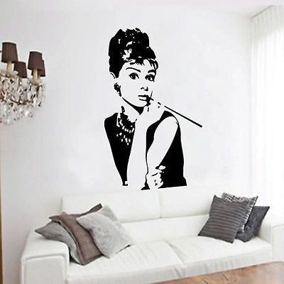 Modern Audrey Hepburn POP Art Posterr Wall Decals Stickers Vinyl Removable