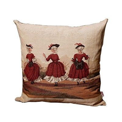 Classic Victorian Royal Court Lady Decorative Pillow Case Cushion Cover Sham