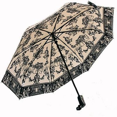 UV Protect Light Weight Tri-Fold Vintage Art Angel Blessing Umbrella Parasol