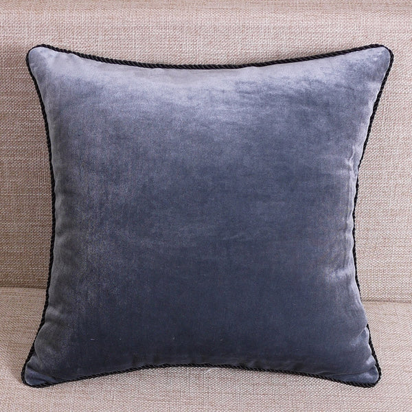 BLACK RED VELVET PURE COLOR MODERN ART PILLOW CASE CUSHION COVER SHAM THROW CASE