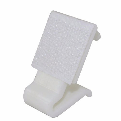 "1"" Hook&Loop White Plastic Wedding Banquet Table Chair Skirting Cloth Clips"