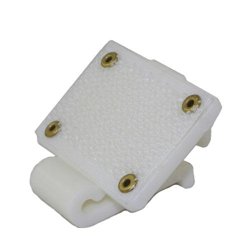 "1/2"" Hook&Loop White Plastic Wedding Banquet Party Table Skirting Cloth Cover Clip"